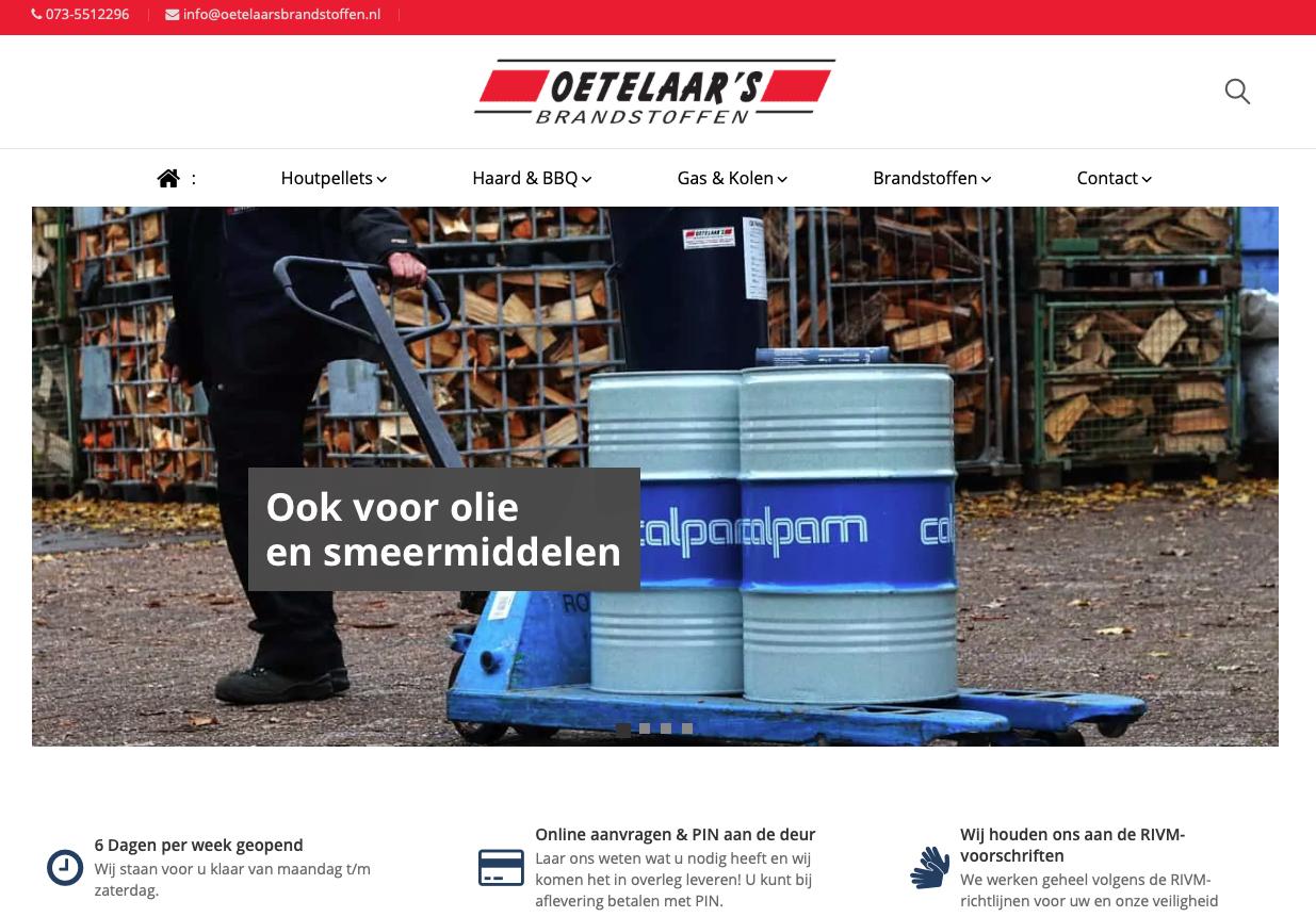 Website Van de Oetelaar